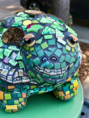 New turtle mosaic sculpture